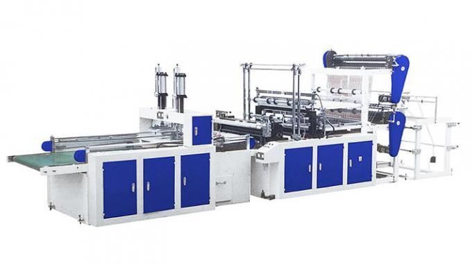 Automatic Flat / Vest Bag Making Machines Double Layer Four Lines 1300KG