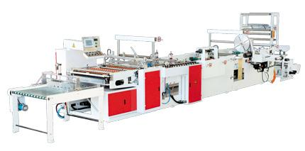 BOPP / POF Heat Patch Handle Bag Making Machine With PLC Controller