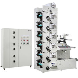 China Six Colour Flexographic Printing Machine With Polyethylene Plastic Bag Glass Paper / Roll Paper Materials supplier