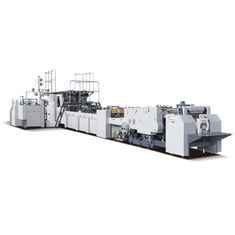 China Fully Automatic Paper Bag Making Machine 25Kw With Water Soluble Cold Glue supplier