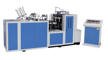 China 6 - 12oz Disposable Paper Cup Making Machine With Handle ZB-NB / 45# Steel Axis supplier