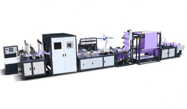 China Fully Automatic Non Woven Bag Making Machine , Handle Integrated Bag Making Equipment distributor