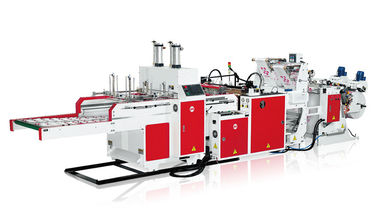 Fully Automatic Single Volume T Shirt Bag Making Machine 400mm Width Three Lines