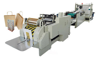 China 60G - 180G / M2 Square Bottom Paper Bag Making Roll Feeding With PLC System distributor