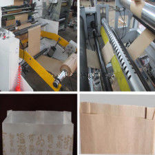 China 18Kw Bread Paper Bag Making Machine Producing Sharp Bottom Food Bags distributor