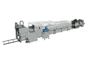 China 20Kw Sheet Feeding Paper Bag Making Machine 50Bags - 80Bags / Min For Mass Bag distributor
