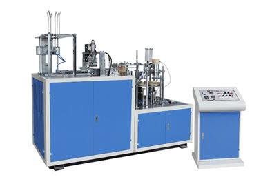 China PE Coated / Ripple Paper Cup Making Machine 4.7kw Paper Cup Sleeve Machine distributor